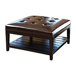 Abbyson Living® Villagio Table Ottoman in Dark Brown