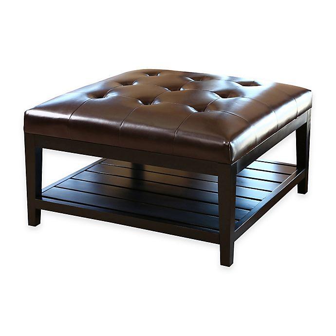 Alternate image 1 for Abbyson Living® Villagio Table Ottoman in Dark Brown