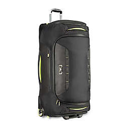 High Sierra® AT8 34-Inch Rolling Duffle in Black/Lime