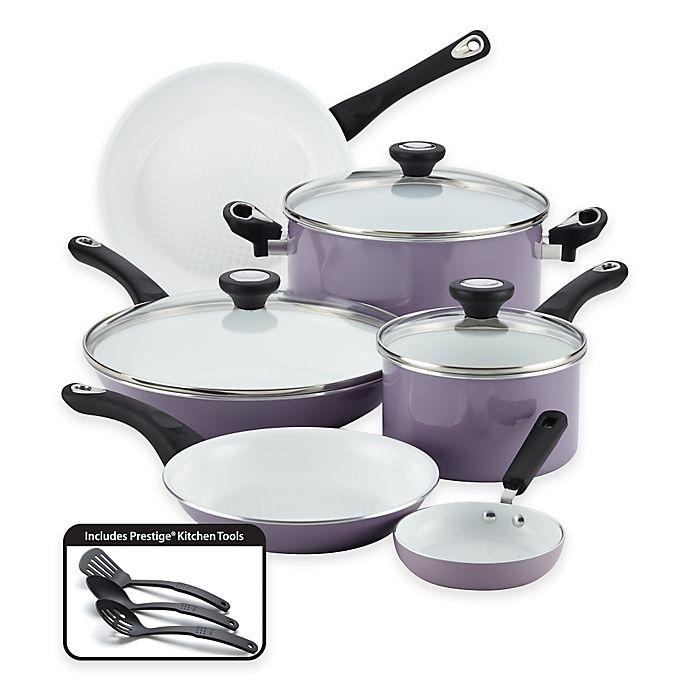 Alternate image 1 for Farberware® PURECOOK™ Ceramic Nonstick 12-Piece Cookware Set in Lavender