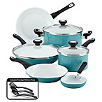 Farberware® PURECOOK™ Ceramic Nonstick 12-Piece Cookware Set in Aqua