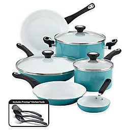 Farberware® PURECOOK™ Ceramic Nonstick 12-Piece Cookware Set in Aqua