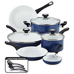 Farberware® PURECOOK™ Ceramic Nonstick 12-Piece Cookware Set in Blue