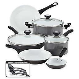 Farberware® PURECOOK™ Ceramic Nonstick 12-Piece Cookware Set in Grey