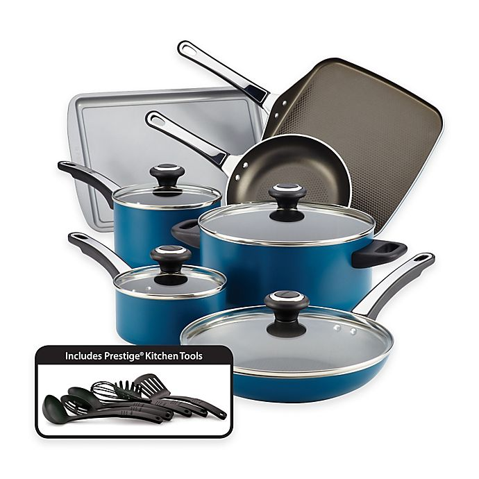 Alternate image 1 for Farberware® High Performance Nonstick Aluminum 17-Piece Cookware Set