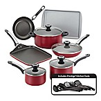 Farberware® High Performance Nonstick Aluminum 17-Piece Cookware Set in Red