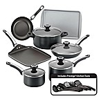 Farberware® High Performance Nonstick Aluminum 17-Piece Cookware Set in Black