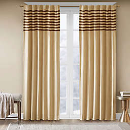 Madison Park Dune 2-Pack 84-Inch Rod Pocket Window Curtain Panels in Beige/Brown