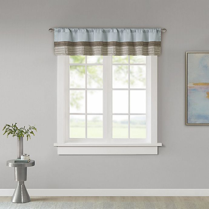 Alternate image 1 for Madison Park Amherst Window Valance in Blue