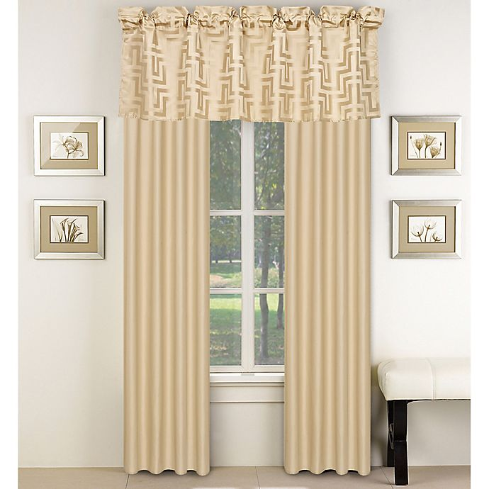 Alternate image 1 for Waves 84-Inch Window Curtain Panel Pair in Beige