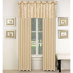 Waves Window Curtain Panel and Valance in Beige