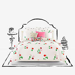 kate spade new york Willow Court Maraschino Comforter Set in Ivory