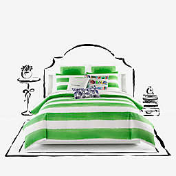 kate spade new york Rugby Stripe Duvet Cover Set