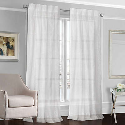Designers' Select™ Peyton Back Tab Sheer Window Curtain Panel