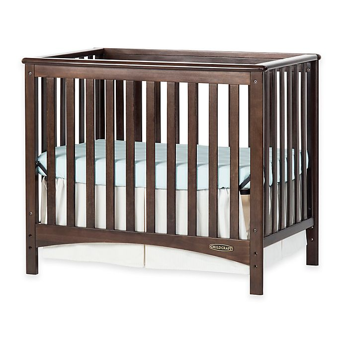 Alternate image 1 for Child Craft™ London Euro 2-in-1 Convertible Mini Crib in Slate