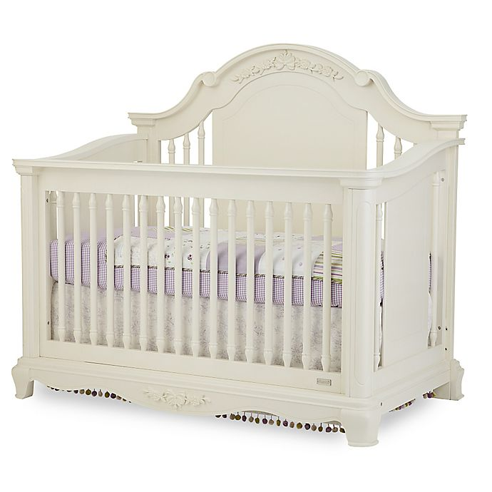 Alternate image 1 for Bassettbaby® Premier Addison 4-in-1 Convertible Crib in Pearl White