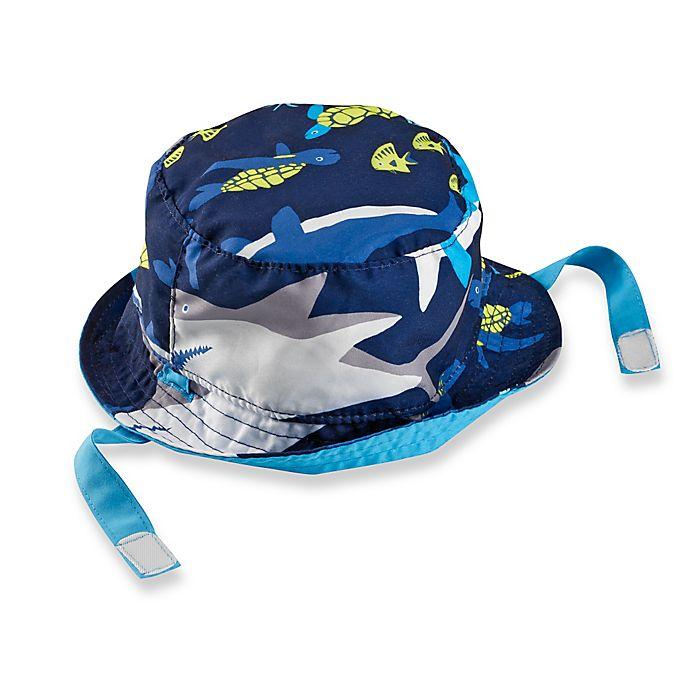 caddde34a03 carter s® Reversible Shark Bucket Hat in Blue