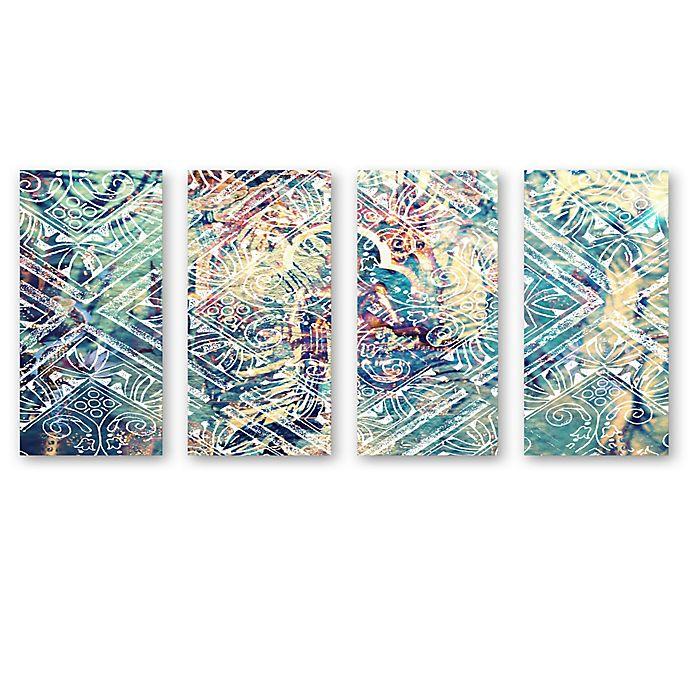 Alternate image 1 for Oliver Gal Damask Canvas Wall Art (Set of 4)