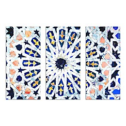 Oliver Gal Artist Co. Azahar Triptych 3-Piece Canvas Wall Art