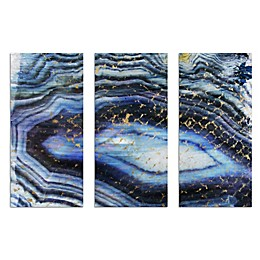 Oliver Gal Sea of Gold Triptych Canvas Wall Art