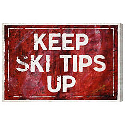 "Oliver Gal Artist Co. ""Keep Ski Tips Up"" Canvas Wall Art"