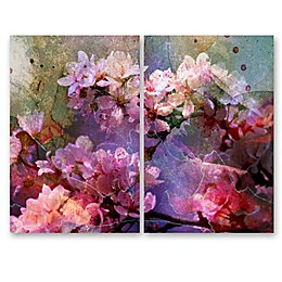 The Oliver Gal Artist Co. Pinku Canvas Wall Art (Set of 2)