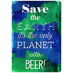 Oliver Gal Artist Co. Beer Planet Canvas Wall Art