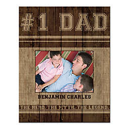 #1 Dad Canvas Wall Art