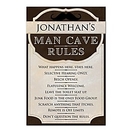 Man Cave Rules Wall Art