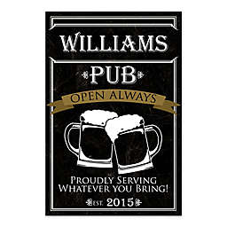 Personalized Pub Canvas Wall Art