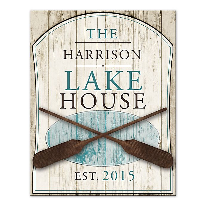 Alternate image 1 for Family Lake House Canvas Wall Art