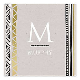 Modern Black And Gold Letter Canvas Wall Art