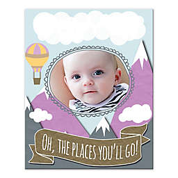 """""""Oh, The Places You'll Go!"""" 8-Inch x 10-Inch Canvas Wall Art"""