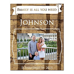 """""""Family Is All You Need"""" Canvas Wall Art"""