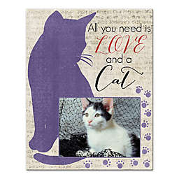 """""""All You Need Is Love and a Cat"""" 11-Inchx 14-Inch Wall Art"""