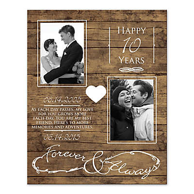 "Happy Anniversary ""Forever & Always"" Wall Art"