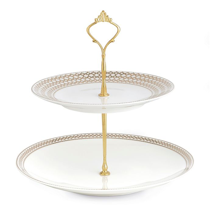 Auratic Chantilly 2-Tier Cake Plate