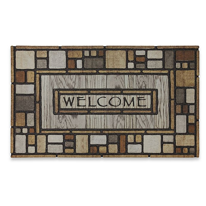 Alternate image 1 for Mohawk Home® Tiles Galore 18-Inch x 30-Inch Recycled Rubber Door Mat