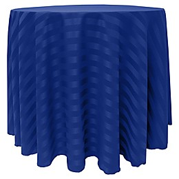 Poly-Stripe Round Tablecloth