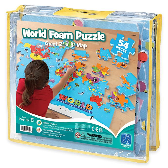 Educational Insights® World Foam Map Puzzle | Bed Bath & Beyond