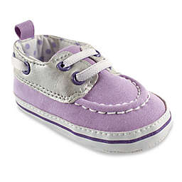 BabyVision® Luvable Friends™ Boat Shoe in Silver/Lilac
