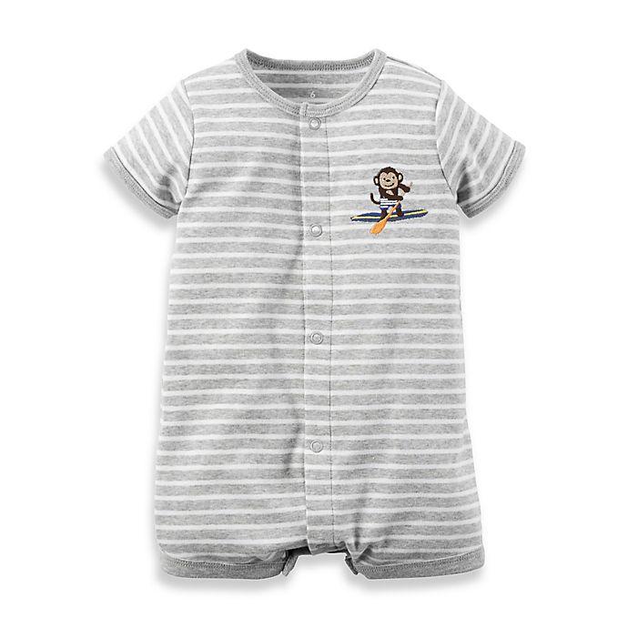 d17e0590e carter s® Snap-Up Cotton Monkey Romper in Grey