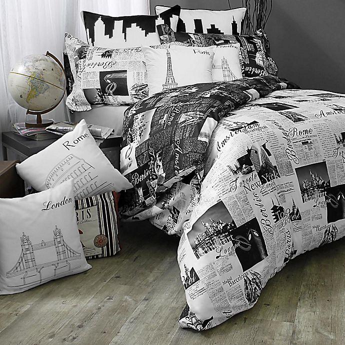 Pport London And Paris Reversible Comforter Set