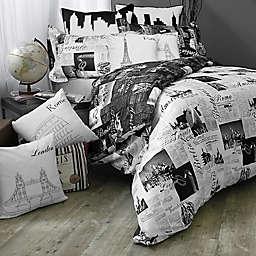 Passport London and Paris Reversible Comforter Set