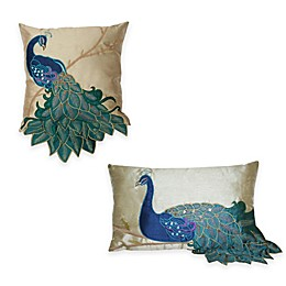 Thro Fancy Peacock Throw Pillow Collection