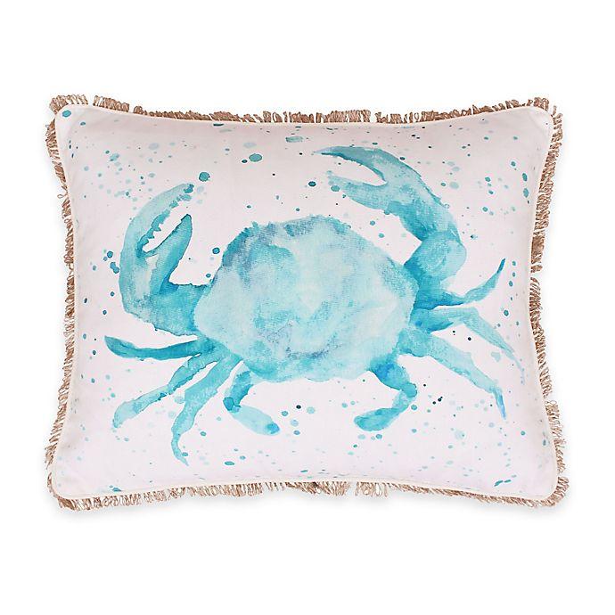 Alternate image 1 for Thro Carmello Watercolor Crab Oblong Throw Pillow
