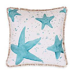 Thro Samaria Watercolor Starfish Square Throw Pillow