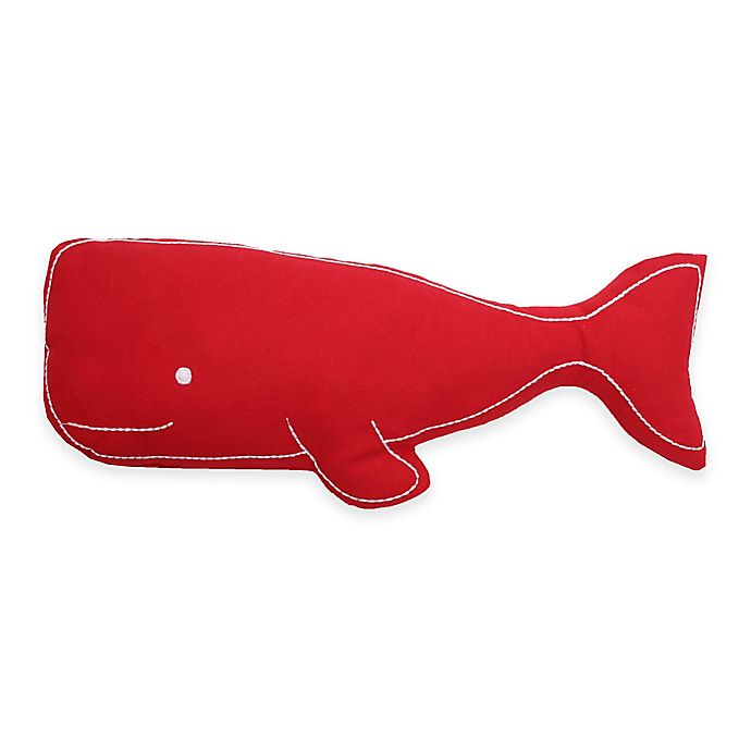 Alternate image 1 for Thro Wally Whale-Shaped Pillow in Red