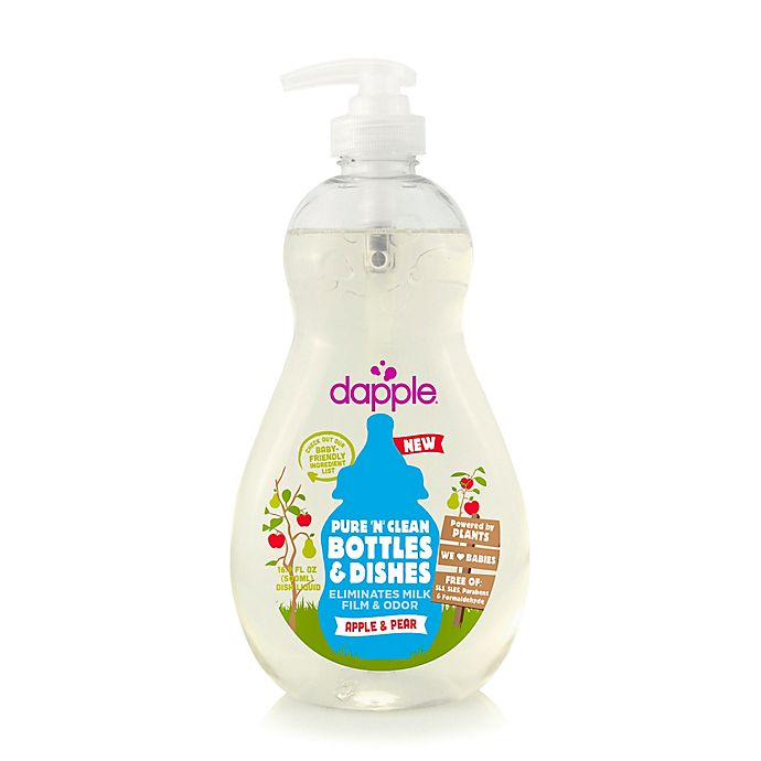 Alternate image 1 for dapple® 16.9 oz. Pure 'N' Clean Baby Bottle and Dish Liquid Cleaner in Apple Pear
