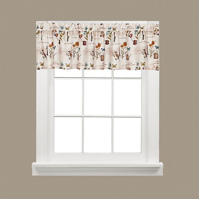 Alternate image 1 for Le Jardin Window Valance in Cream